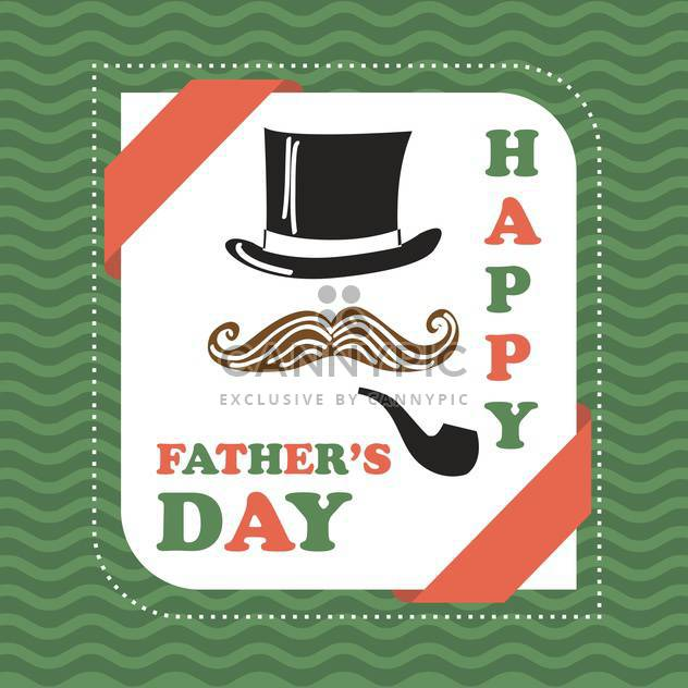 happy father's day vintage card - Free vector #133982