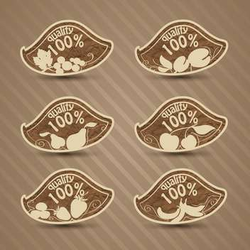 vector set of high quality food - Kostenloses vector #134012