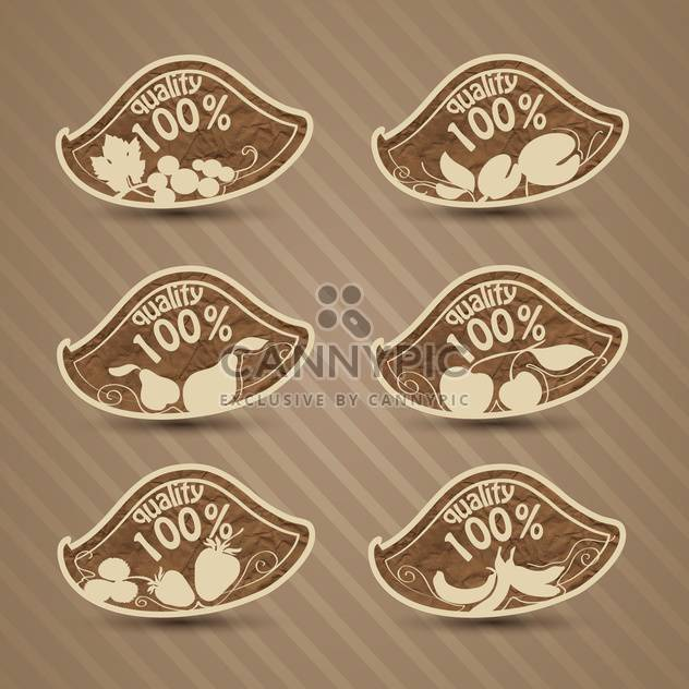 vector set of high quality food - Free vector #134012