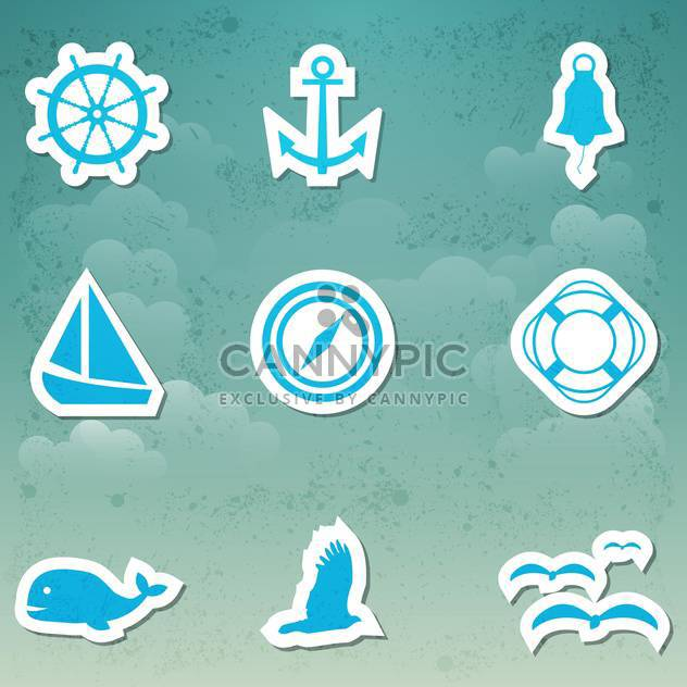 vector set of travel icons - Free vector #134022