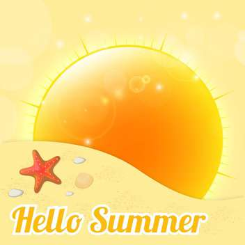 hello summer background illustration - vector gratuit(e) #134042