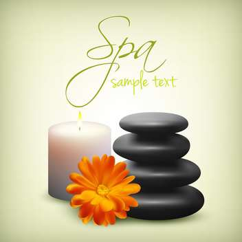spa still life with flower background - Free vector #134062
