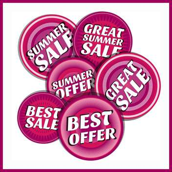 summer shopping sale emblems - vector gratuit #134102