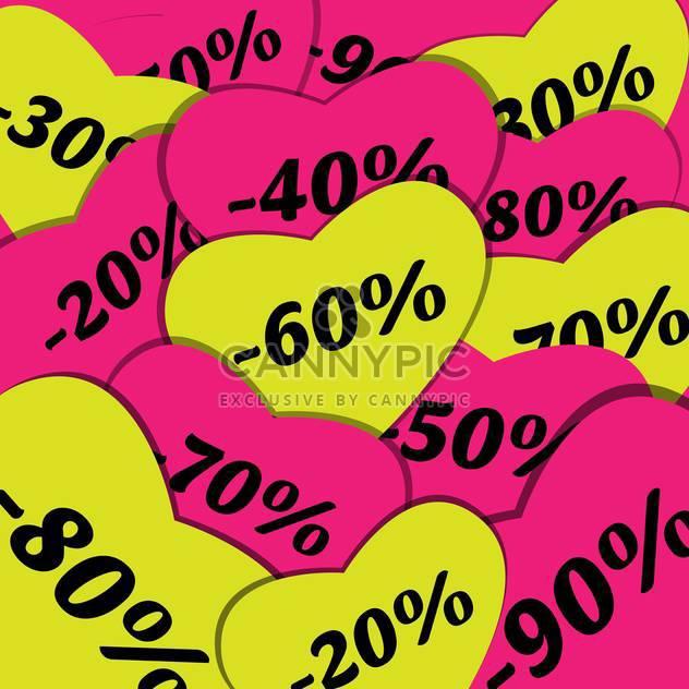 Verkaufs-Zeichen Einkaufen festlegen Hintergrund - Free vector #134112