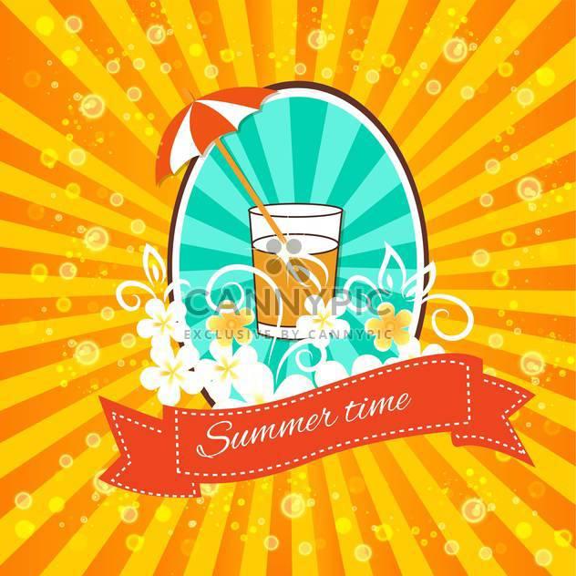 Jahrgang-Sommer-Ferien-Hintergrund - Free vector #134242