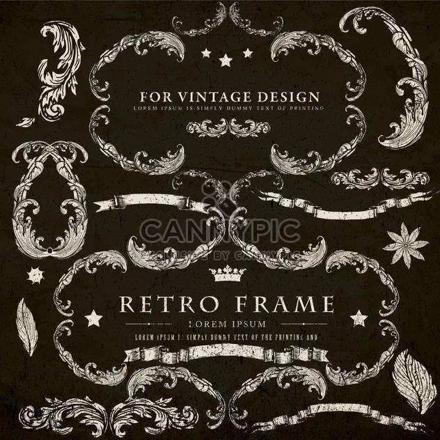 Vintage-Design-Elemente festlegen - Kostenloses vector #134302