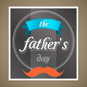 happy father's day banner - vector #134352 gratis