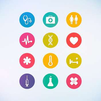 web medicine icons set - vector gratuit #134392