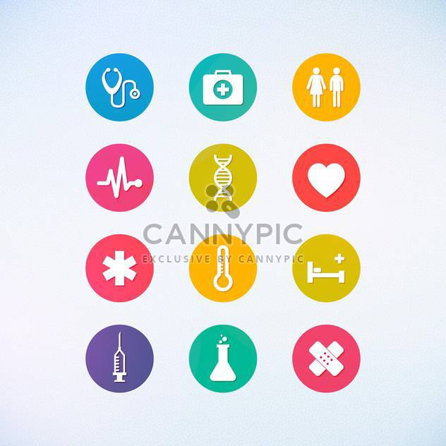 web medicine icons set - Free vector #134392