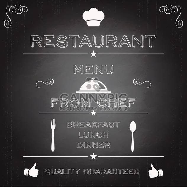 restaurant menu brochure template - Free vector #134452