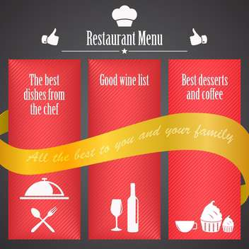restaurant menu brochure template - vector gratuit #134462