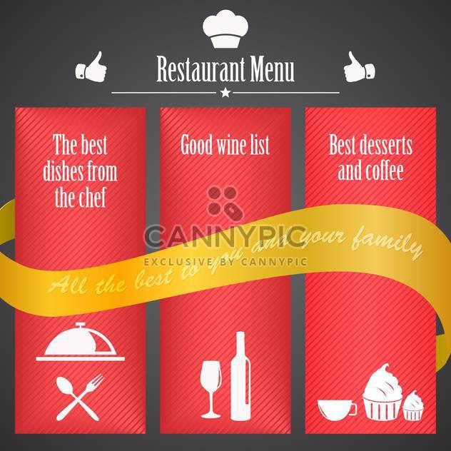 restaurant menu brochure template - Free vector #134462