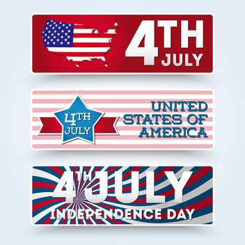 usa independence day symbols - vector gratuit #134512