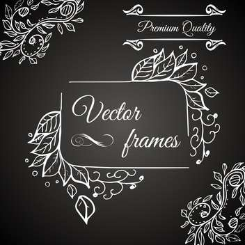 retro frame premium quality - Free vector #134562