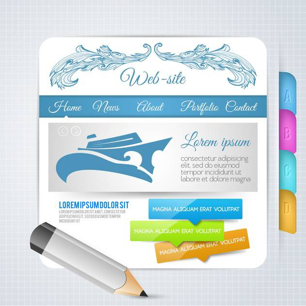 set of elements for web page design - Kostenloses vector #134572