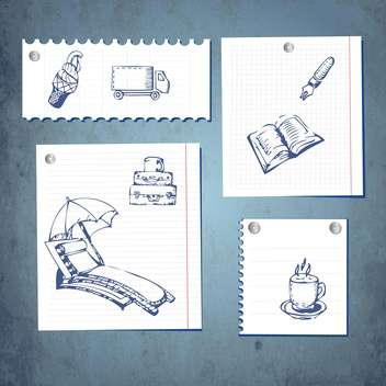 paper communication notes set - Free vector #134622
