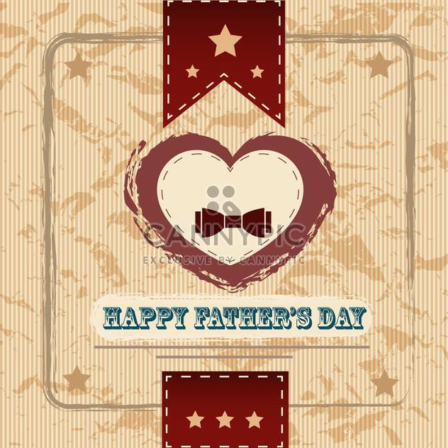 happy fathers day vintage card - Free vector #134652