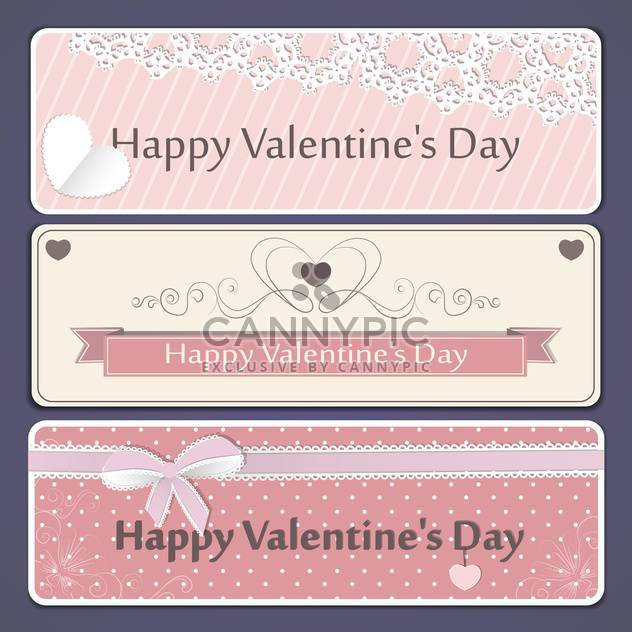 valentine's day banner vector set - Free vector #134662
