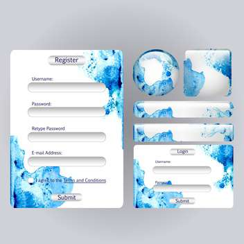 web login form background - Free vector #134702