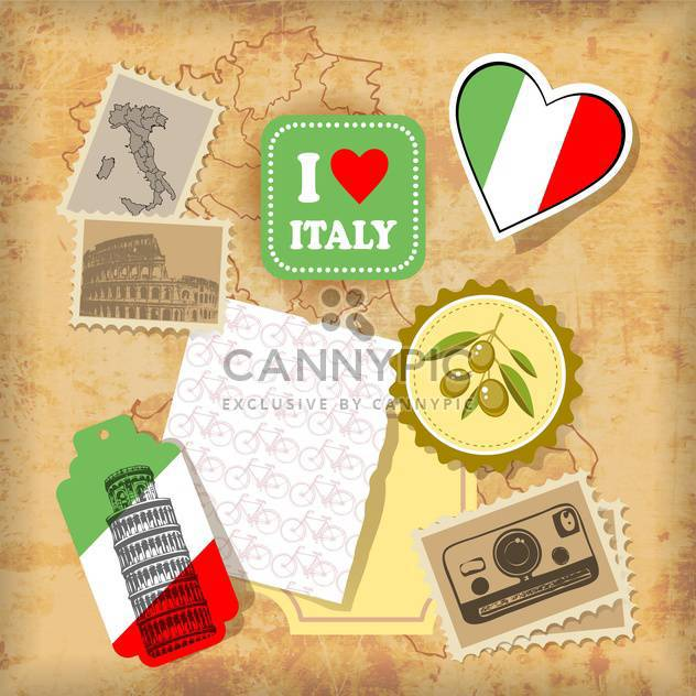 italy landmarks and symbols vector illustration - Free vector #134732