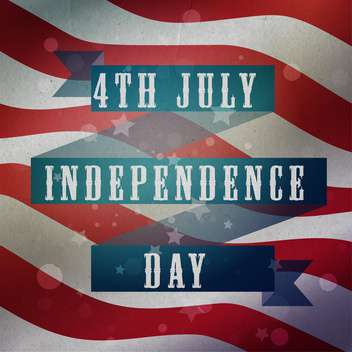 vintage vector independence day background - Free vector #134752