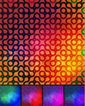 abstract colorful background set - vector gratuit #134772