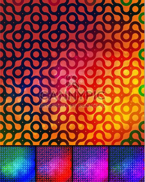 abstract colorful background set - Free vector #134772