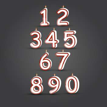 happy birthday burning number candles - vector gratuit #134782