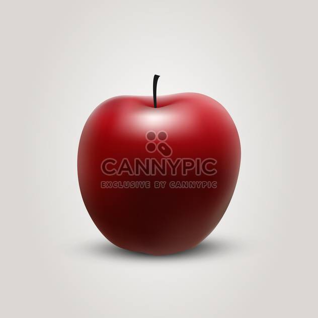 red ripe apple vector illustration - Free vector #134812