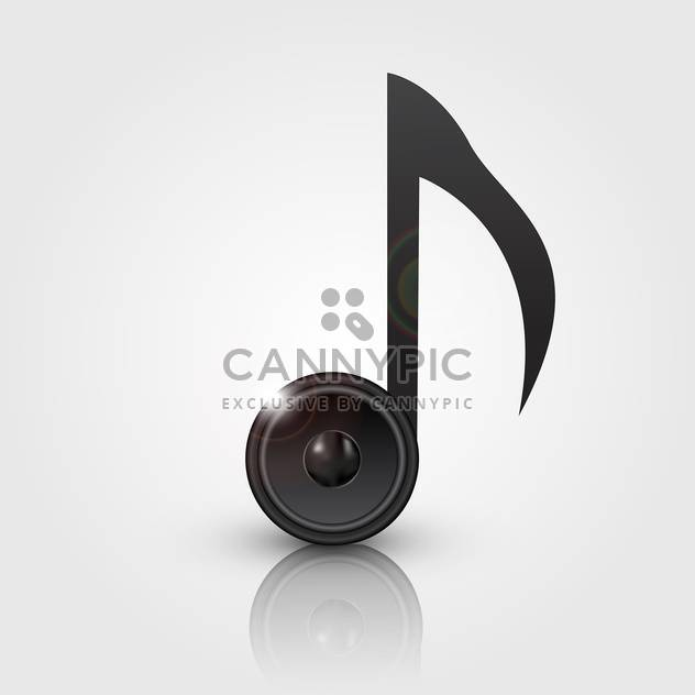 vector abstract note with speaker - Free vector #134832