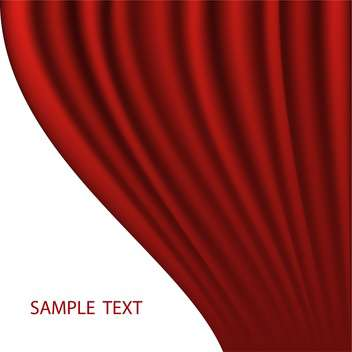 red abstract curtain vector background - vector #134852 gratis