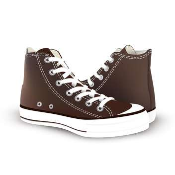 pair of new sneakers vector illustration - vector #134862 gratis
