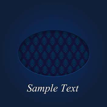 damask dark blue pattern illustration - vector gratuit #134902