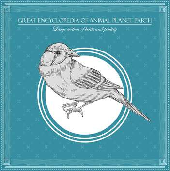 birds illustration in great encyclopedia of animal - vector gratuit #135002
