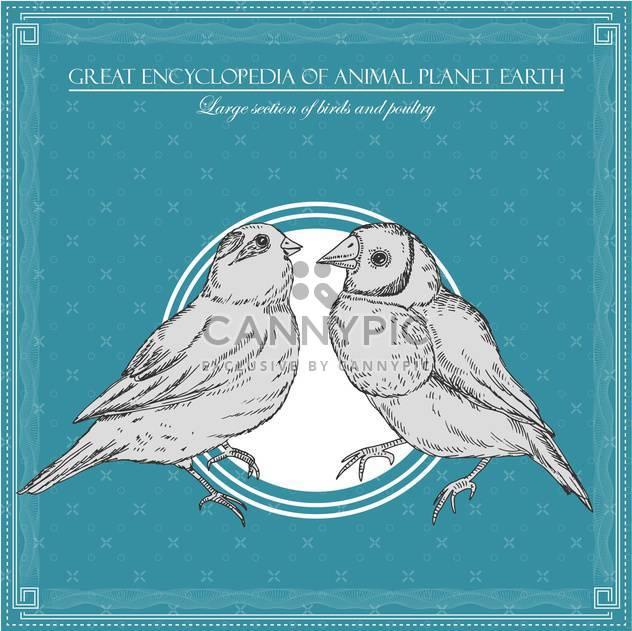 Vögel-Illustration im großen Enzyklopädie des Tieres - Kostenloses vector #135022