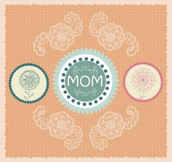 mother's day greeting banners with spring flowers - vector gratuit(e) #135052