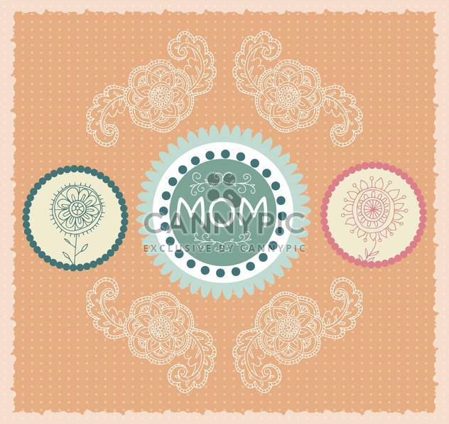 mother's day greeting banners with spring flowers - Free vector #135052