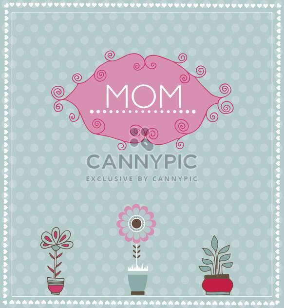 Grußkarte für Muttertag mit Frühlingsblumen - Kostenloses vector #135062