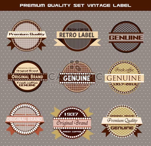 Premium set Jahrgang Etiketten auf grauen Hintergrund - Free vector #135142