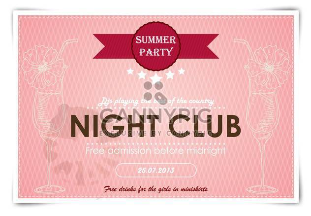 artistic poster for event in night club - Free vector #135152
