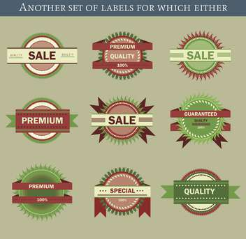 set of retro vector labels and badges background - Free vector #135212