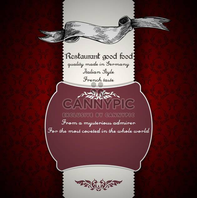 restaurant menu vector design background - Free vector #135222