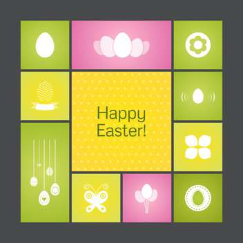 Vector colorful holiday background for Happy Easter - vector gratuit #125852