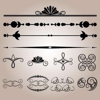 Vector set of floral wedding vintage elements - vector #125902 gratis