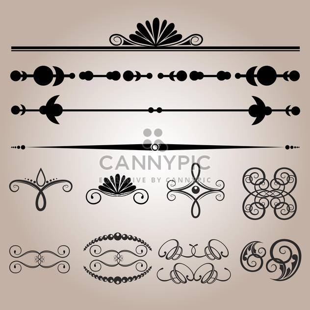 Vector set of floral wedding vintage elements - Free vector #125902