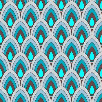 Vector abstract background with blue ornament pattern - бесплатный vector #125962