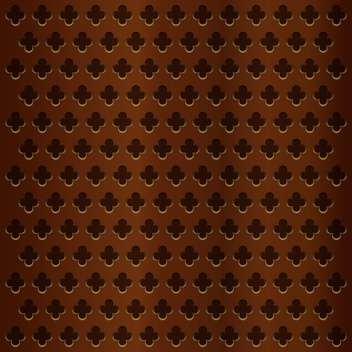 Vector illustration of wooden brown background with flower shape holes - Free vector #125972