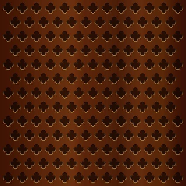 Vector illustration of wooden brown background with flower shape holes - vector #125972 gratis