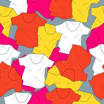 Vector illustration background with colorful t-shirts - Free vector #126032