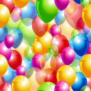 colorful illustration of balloons for party background - vector #126092 gratis